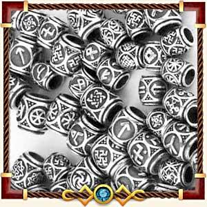 Шармы и бусины с рунами из серебра и золота в Калуге