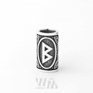 Руна Беркана - шарм из серебра